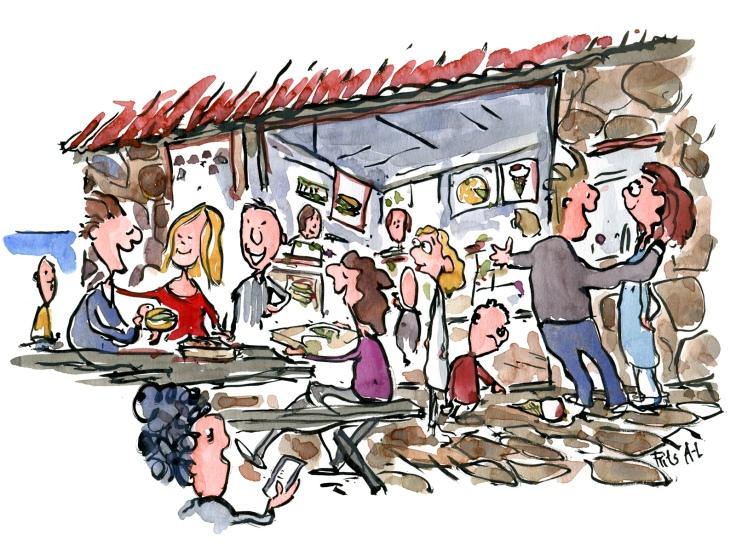 illustration of the Kiosk on ertholmene, Christiansoe
